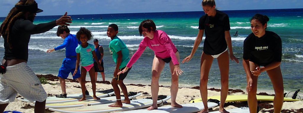 Surf in barbados school