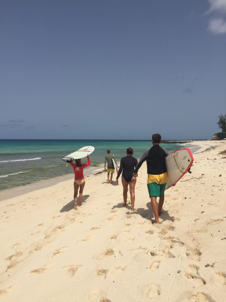 learn to surf in Barbados